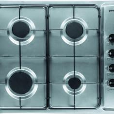 Gorenje Plită încorporabilă Gorenje G 64 X (gaz), Argintiu, Numar arzatoare: 4