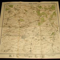 1939 Harta militara BAILESTI, judetul Dolj, format 50x48 cm