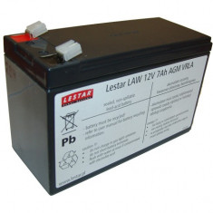 Rechargeable battery LAWu 12V 7Ah AGM VRLA - UPS Lestar