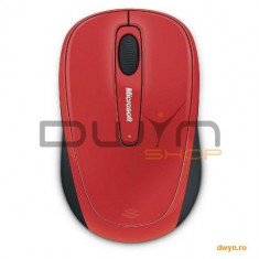 Wireless Mobile Mouse Microsoft3500 Flame Red Gloss