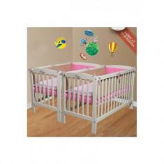 Patut copii scurt pentru gemeni - Patut lemn pentru bebelusi Mesterel, Altele, Alte dimensiuni, Alb