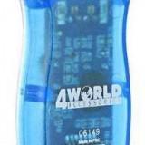 4WORLD Cititor 4World card flash si card SIM, USB 2.0
