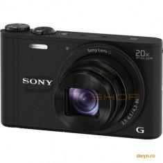 Camera foto Sony Cyber-Shot WX350 Black, 18.2 MP, senzor CMOS Exmor R, 20x optical zoom, OSS si foca - Aparat Foto compact Sony