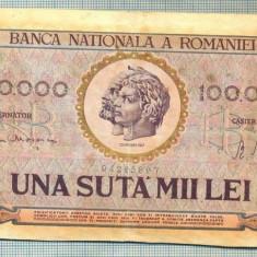 A1345 BANCNOTA-ROMANIA- 100000 LEI-25IANUARIE1947-SERIA 0897-starea care se vede - Bancnota romaneasca