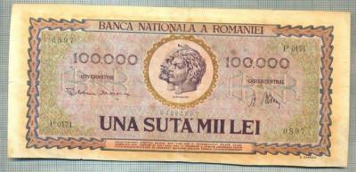 A1345 BANCNOTA-ROMANIA- 100000 LEI-25IANUARIE1947-SERIA 0897-starea care se vede foto