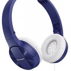 Căști Pioneer SE-MJ503-L, albastru, Casti On Ear, Cu fir, Mufa 3, 5mm, Active Noise Cancelling