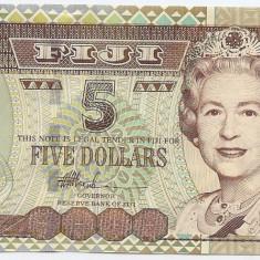 Fiji 5 Dolari (nedatata-2002) - Prefix AG, P-105b UNC !!!