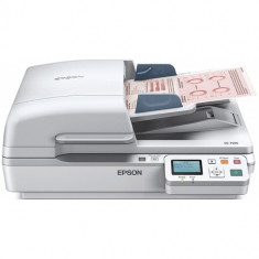 Epson WorkForce DS-7500N, Scanner flatbed color, A4, 40 ppm mono si color, ADF 100 pagini, Duplex, Re