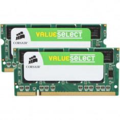 Memorie notebook Corsair ValueSelect 4GB DDR2 800MHz CL5 Dual Channel Kit - Memorie RAM laptop