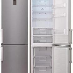 Combina frigorifica LG GBB530PVQWB, No Frost, Clasa A+, 343 L, Display, Inox, A+