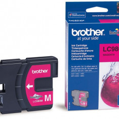 Brother Cerneala Brother LC980M magenta | 260pgs | DCP145C/ DCP165C/ MFC250C/MFC290C - Cerneala imprimanta