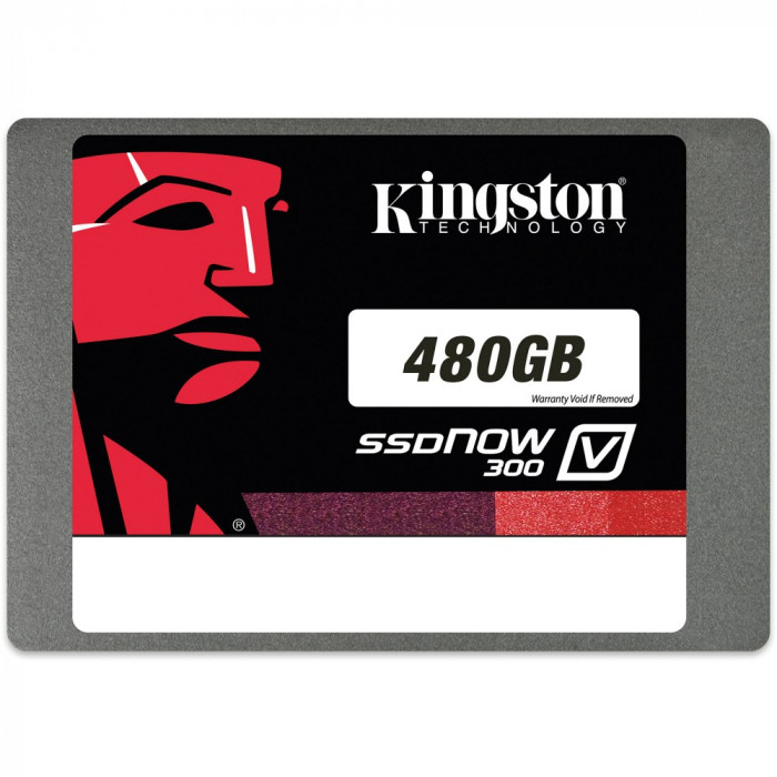 Kingston SSDNow 480GB V300 SATA 3 2.5 7mm w/Adapter foto mare