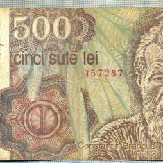 A1335 BANCNOTA-ROMANIA- 500 LEI-1991-SERIA 0017- BRANCUSI-starea care se vede - Bancnota romaneasca