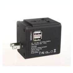 Serioux ADAPTOR AC UNIVERSAL 2 USB 2.1A 158 BLK