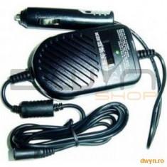 Alimentator Notebook Auto universal, 80W - compatibil cu marea majoritate a notebookurilor, tensiuni - Incarcator Laptop Gembird