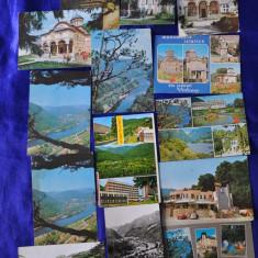 Lot 13 CP VALEA OLTULUI - VALCEA. Caciulata, Cozia (Carti postale vechi, Vederi), Circulata, Fotografie, Romania de la 1950