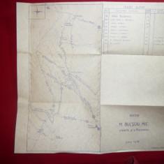 Harta Muntilor Bucsoiu Mic - Bucegi, scara 1:6700, 30, 3x31, 5cm
