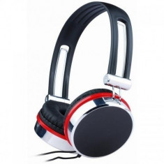 Casti stereo - dimensiune medie, black Gembird, Casti On Ear, Cu fir, Mufa 3, 5mm, Active Noise Cancelling