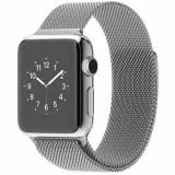 Smartwatch 38 mm carcasa din otel inoxidabil si curea magnetica milanese argintiu