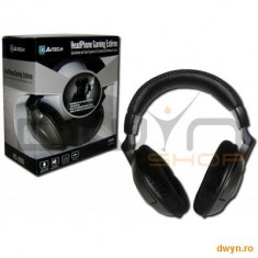 Casti A4TECH HS-800 Stereo Gaming, microfon + control volum pe fir, Casti On Ear, Cu fir, Mufa 3, 5mm, Active Noise Cancelling