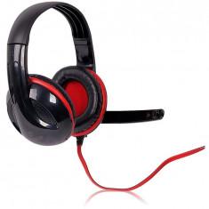 Casti 4World Over-Head 09963 Black - Casca PC