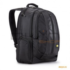 Rucsac laptop 17.3' Case Logic, buzunar frontal, buzunare laterale, nylon, black 'RPB-217' - Geanta laptop Case Logic, Nailon, Negru