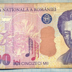 A1338 BANCNOTA-ROMANIA- 50000 LEI-2000-SERIA 005B- ENESCU -starea care se vede - Bancnota romaneasca