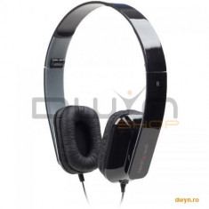 Folding stereo headphones 'Rome', black Gembird, Casti On Ear, Cu fir, Mufa 3, 5mm