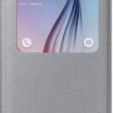 Samsung Galaxy S6 G920 S-View Cover (Fabric) Silver EF-CG920BSEGWW - Husa Telefon