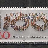 Germania.1981 100 ani Serviciile sociale SG.434 - Timbre straine, Nestampilat