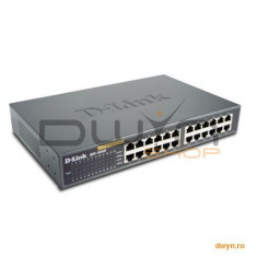 D-Link, Switch 24 porturi 10/100, Desktop / Rackmount