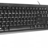 Tracer tastatura Deluxe USB, US, negru, Cu fir