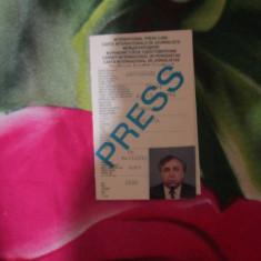 Carnet de jurnalist international mr ardelean nicolae 1995 original