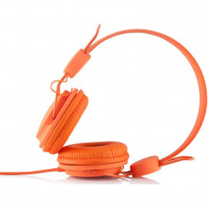 Casti Modecom Over-Head MC-400 Fruity Orange, Casti On Ear, Cu fir, Mufa 3, 5mm, Active Noise Cancelling