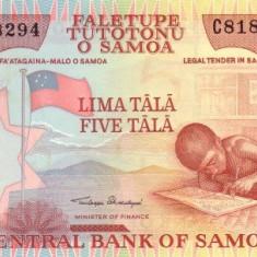 Samoa 5 Tala (nedatata; circa 2002) P-33 UNC !!!
