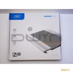 "Deepcool N8, structura din aluminiu si plastic, dimensiune notebook: 17"" (maxim), dual 140mm fans (1 - Masa Laptop"