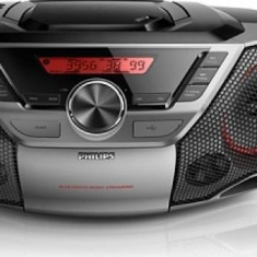 Microsistem audio, Philips AZ700T/12, Bluetooth, NFC, 12W, Negru - CD player