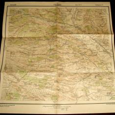 1939 Harta militara FILIASI, judetul Dolj, format 48x47 cm