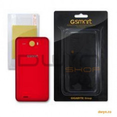 MAYA M1 BATTERY COVER (RED)+ SCREEN PROTECTDE LABEL - Husa Telefon Gigabyte