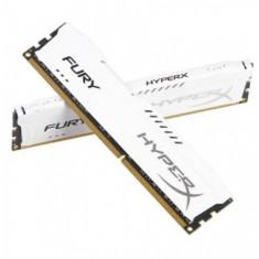 Memorie RAM Kingston, DIMM, DDR3, 16GB, 1866MHz, CL10, Kit 2x8GB, HyperX FURY Memory White, 1.5V