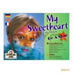 Eulenspiegel Set 6 Culori speciale germane pe baza de apa pentru pictura pe fata si pe corp My Sweetheart - Face painting copii