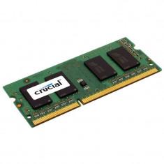 Memorie laptop CRUCIAL 4GB DDR3 1600MHz CL11 - Memorie RAM laptop