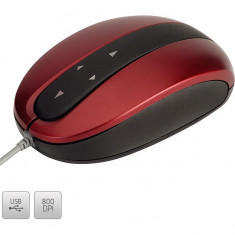 Mouse Modecom optic cu 4 directii, rosu-negru MC-802, Optica
