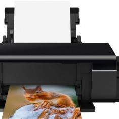 Epson Imprimanta L805 CISS, A4, Inkjet, Color, Wireless, Negru, C11CE86401 (imprimare CD/DVD) - Imprimanta inkjet