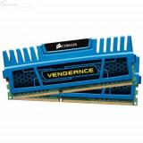Memorie RAM Corsair, DIMM, DDR3, 8GB, 1600MHz, 9-9-9-24, Kit 2x4GB, radiator Blue Vengeance, dual ch