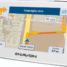 Sistem navigație NAVON N490 Plus White + iGO8 Full Europa (45 țări) + Update pe viață 4, 3