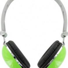 4WORLD Casti 4World stereo cu pernite de urechi confortabile ''Colors'', verzi, Casti On Ear, Cu fir, Mufa 3, 5mm