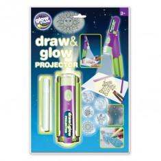 Proiector pentru desen cu pix fosforescent inclus The Original Glowstars Company