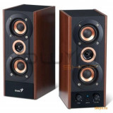 Boxe 2.0 Genius 'SP-HF800A', RMS: 20W (10Wx2), black&cherry wood, line in '31730997100' - Boxe PC