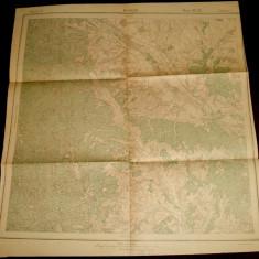 1916 Harta militara BUHUSI, judetul Bacau, format 46x44 cm